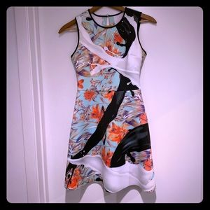 Clover Canyon printed neoprene dress